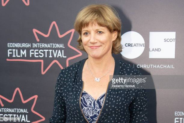 Scottish novelist and critic Kate Muir attends a photocall during the 72nd Edinburgh International Film Festival at Cineworld on June 21 2018 in...