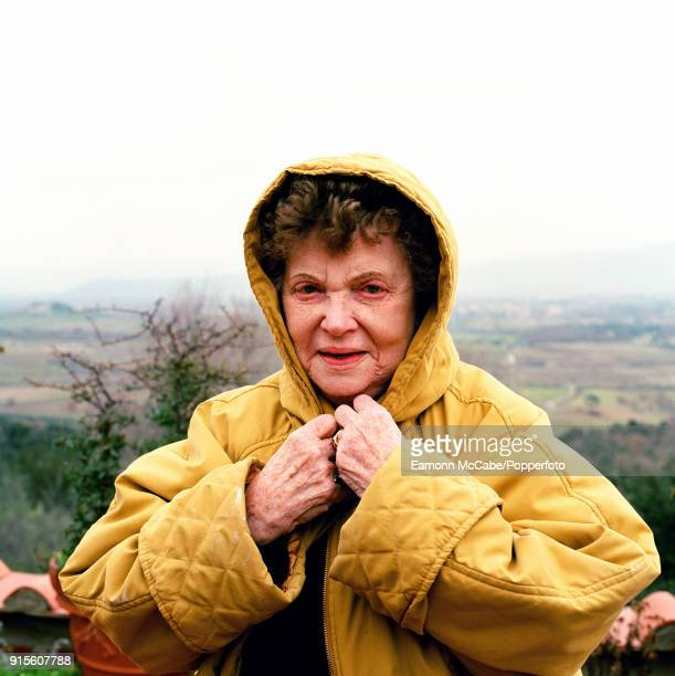 Scottish novelist Muriel Spark at home in Italy circa 2000