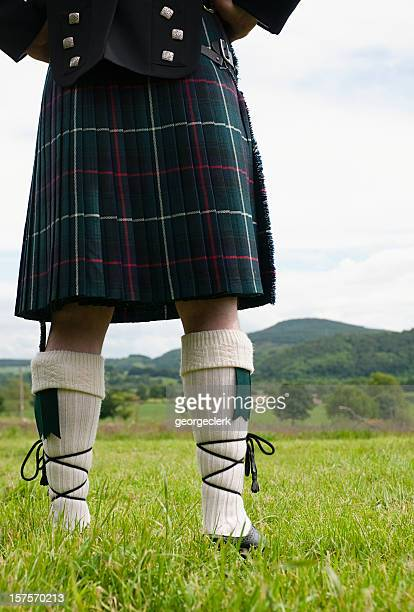 scottish outlook - kilt stock photos and pictures