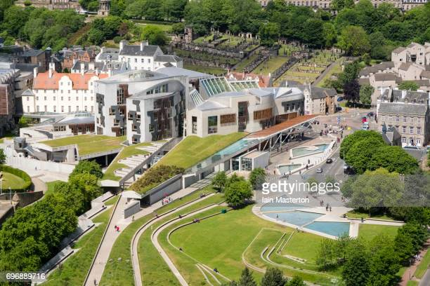 Scottish Parliament building at Holyrood in Edinburgh