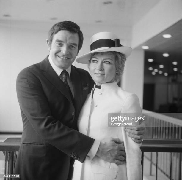 Scottish performer, producer, impresario and director Jimmy Logan with his fiancee, British fashion designer Gina Fratini , pictured together before...