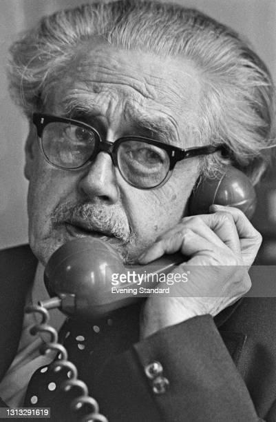 Scottish poet and journalist Hugh MacDiarmid , UK, 30th November 1973.