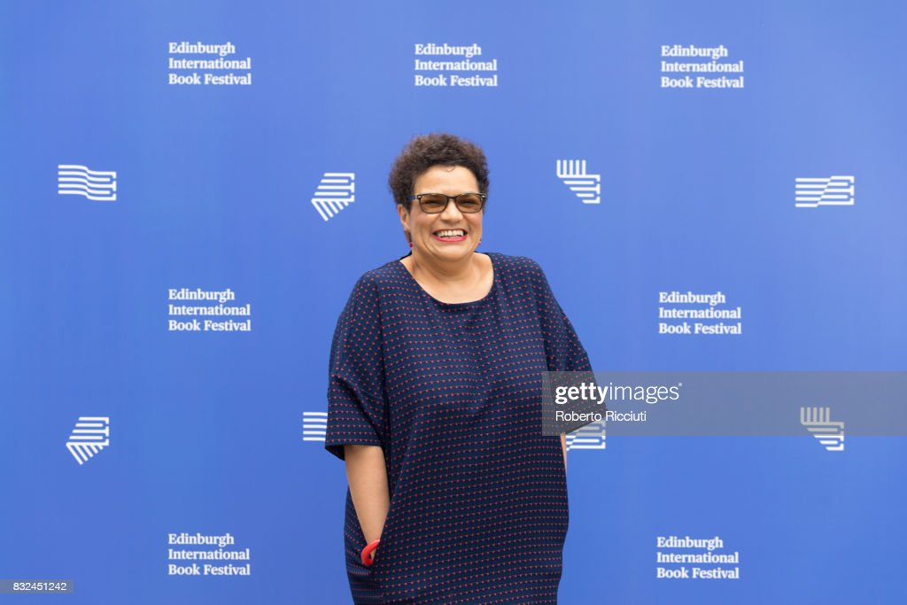 Scottish poet and novelist Jackie Kay attends a photocall during the annual Edinburgh International Book Festival at Charlotte Square Gardens on August 16, 2017 in Edinburgh, Scotland.