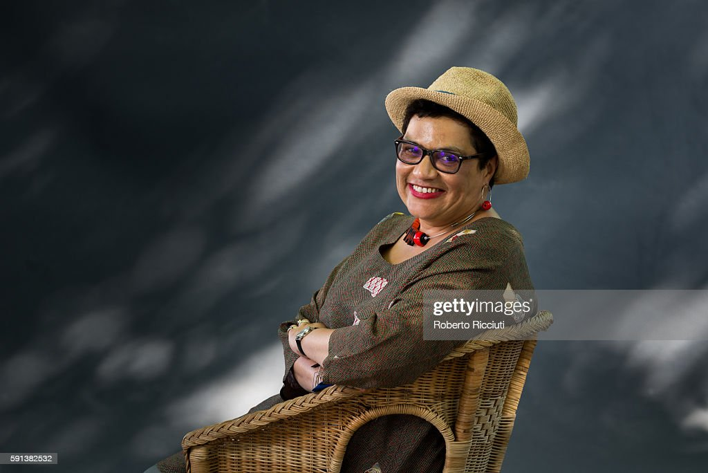Scottish poet and writer Jackie Kay attends a photocall at Edinburgh International Book Festival at Charlotte Square Gardens on August 17, 2016 in Edinburgh, Scotland.