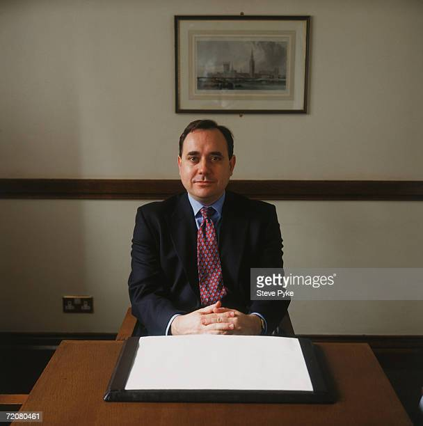 Scottish politician Alex Salmond leader of the Scottish National Party 1996