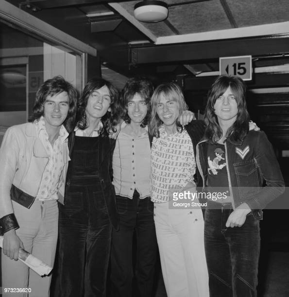 Scottish pop band Bay City Rollers UK 27th October 1972 they are Alan Longmuir John Devine Gordon 'Nobby Clark' Derek Longmuir Eric Faulkner