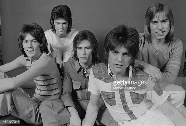 Scottish pop group The Bay City Rollers January 1974 Left to right John Devine Les McKeown Alan Longmuir Eric Faulkner and Derek Longmuir