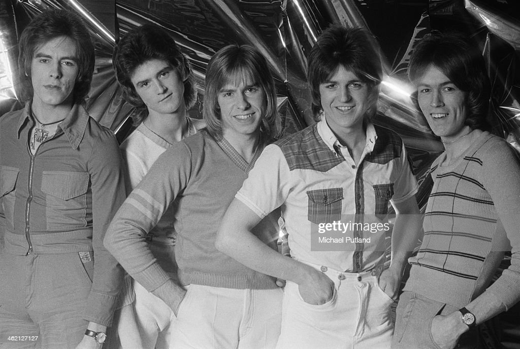Scottish pop group The Bay City Rollers, January 1974. Left to right: Alan Longmuir, Les McKeown, Derek Longmuir, Eric Faulkner and John Devine.