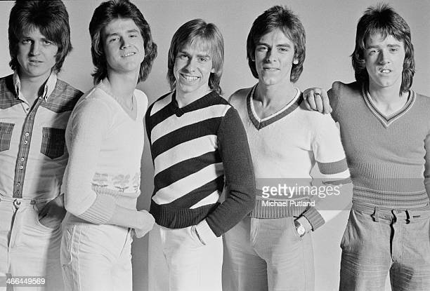 Scottish pop group The Bay City Rollers March 1974 Left to right Eric Faulkner Les McKeown Derek Longmuir Alan Longmuir and Stuart 'Woody' Wood