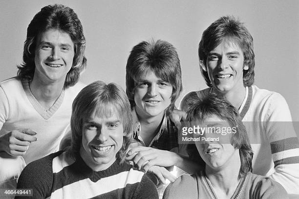 Scottish pop group The Bay City Rollers March 1974 Left to right Les McKeown Derek Longmuir Eric Faulkner Stuart 'Woody' Wood and Alan Longmuir