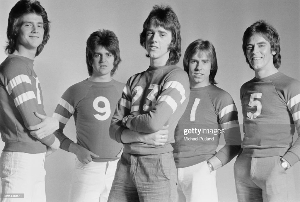 Scottish pop group The Bay City Rollers, March 1974. Left to right: Les McKeown, Eric Faulkner, Stuart 'Woody' Wood, Derek Longmuir and Alan Longmuir.