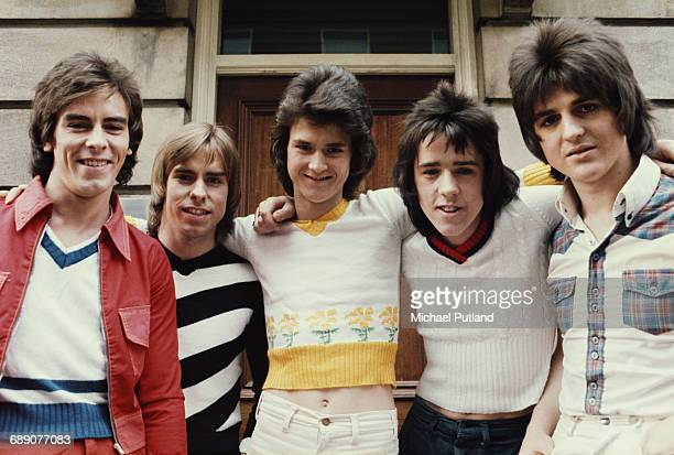 Scottish pop group The Bay City Rollers UK March 1974 Left to right Alan Longmuir Derek Longmuir Les Mckeown Stuart 'Woody' Wood Eric Faulkner