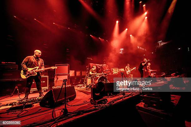 Scottish postpunk indie rock band The Twilight Sad opens the concert of English rock band The Cure on November 1 2016 in Milan Italy