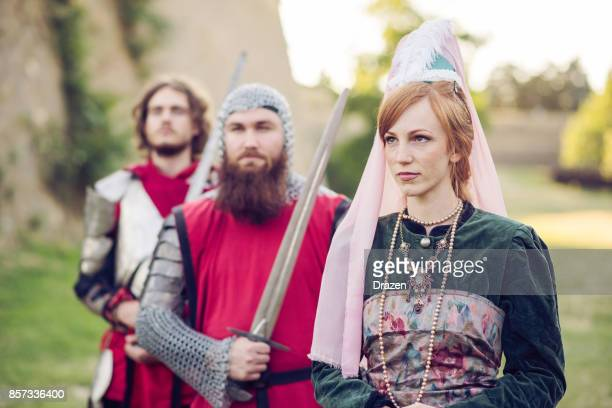 Scottish princess and guard in medieval times