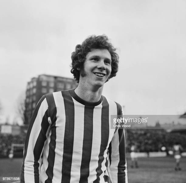 Scottish professional footballer and defender with Southampton FC Jim Steele pictured on the pitch prior to playing in the League Division One match...