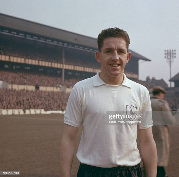 Scottish professional footballer and player with Tottenham Hotspur FC Dave Mackay pictured at the team's White Hart Lane ground circa 1960