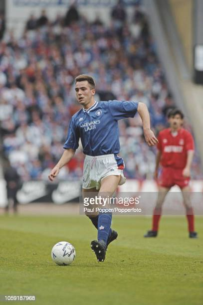 Scottish professional footballer Scott Nisbet defender with Rangers FC pictured in action for Rangers in a match against Aberdeen during competition...