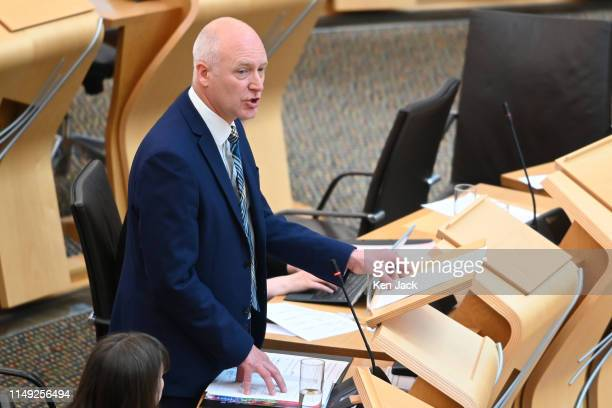 Scottish Public Health Minister Joe FitzPatrick leads the Stage 3 debate in the Scottish Parliament on a bill which will introduce an optout system...