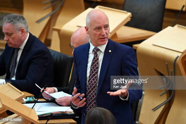 Scottish Public Health Minister Joe FitzPatrick speaking during Topical Questions in the Scottish Parliament on June 25 2019 in Edinburgh Scotland