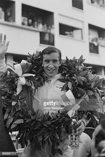 Scottish racing driver Jackie Stewart after winning the Monaco Grand Prix in a BRM P261 Monte Carlo 22nd May 1966