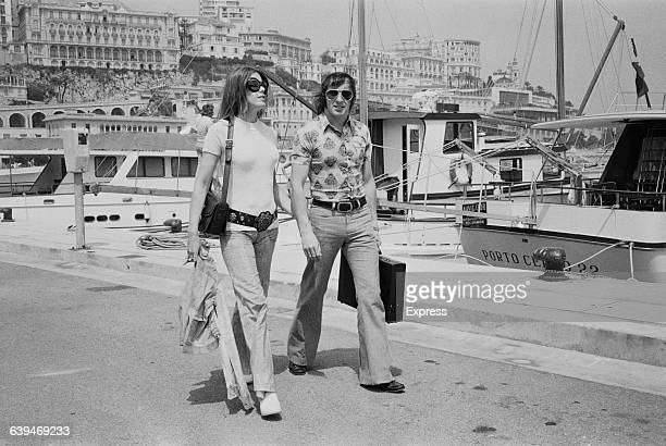 Scottish racing driver Jackie Stewart and his wife Helen in Monaco harbour 20th May 1971