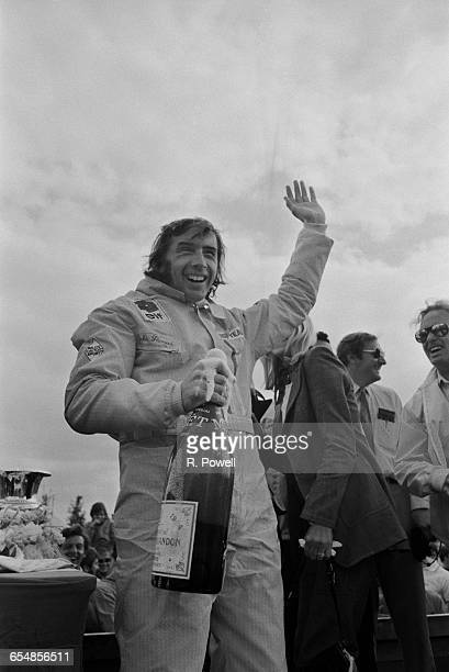 Scottish racing driver Jackie Stewart wins the British Grand Prix at Silverstone UK 17th July 1971