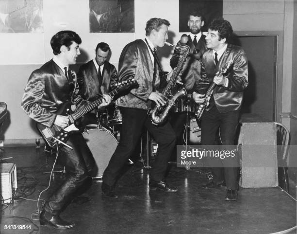 Scottish rhythm and blues group Alex Harvey and his Soul Band rehearsing at Jazzshows on Oxford Street London 6th February 1964