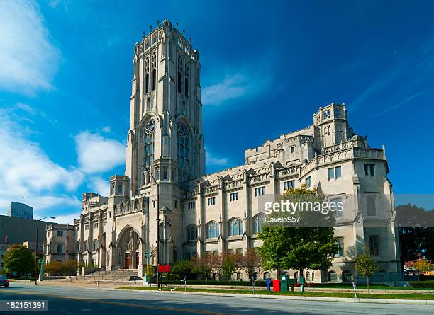 scottish rite cathedral in indianapolis - indiana stock-fotos und bilder