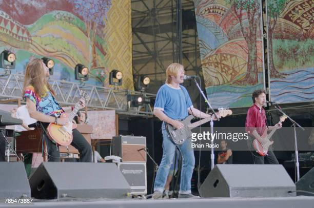 Scottish rock band Del Amitri perform live on stage at the Woodstock '94 festival at Winston Farm in Saugerties New York on 12th August 1994 The...