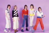Scottish rock band the bay city rollers pose for a portrait in 1976 picture id103329423?s=170x170