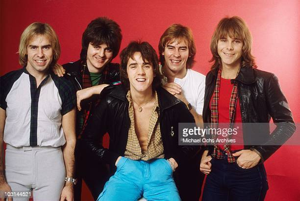 Scottish rock band 'The Bay City Rollers' pose for a portrait in circa 1978 in Los Angeles California Derek Longmuir Eric Faulkner Stuart 'Woody'...