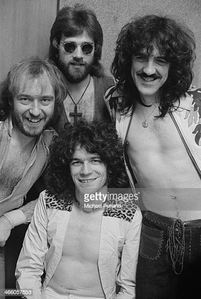 Scottish rock group Nazareth 1974 Clockwise from front singer Dan McCafferty bassist Pete Agnew drummer Darrell Sweet and guitarist Manny Charlton