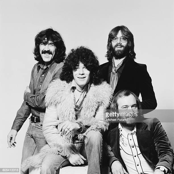 Scottish rock group Nazareth 20th November1975 Left to right guitarist Manny Charlton singer Dan McCafferty drummer Darrell Sweet and bassist Pete...
