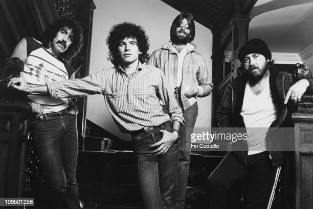 Scottish rock group Nazareth circa 1982 Left to right guitarist Manny Charlton singer Dan McCafferty drummer Darrell Sweet and bassist Pete Agnew