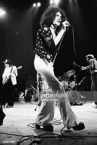 Scottish rock group Nazareth performing at the London Music Festival Alexandra Palace London 28th July 1973 Left to right Manny Charlton Dan...