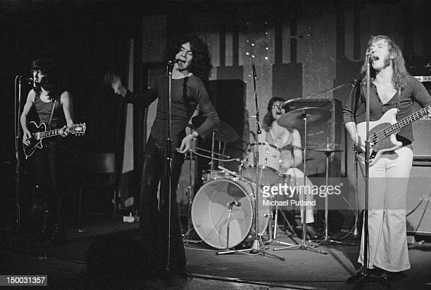 Scottish rock group Nazareth performing at the Marquee Club London 18th January 1972 Left to right Manny Charlton Dan McCafferty Darrell Sweet and...