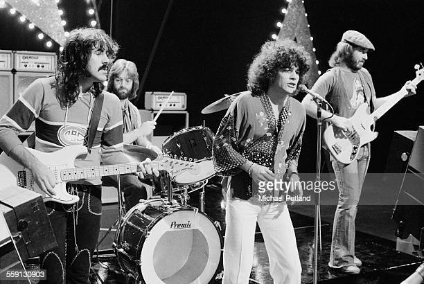 Scottish rock group Nazareth performing on London Weekend Television's children's music show Supersonic at the South Bank Television Centre 23rd...