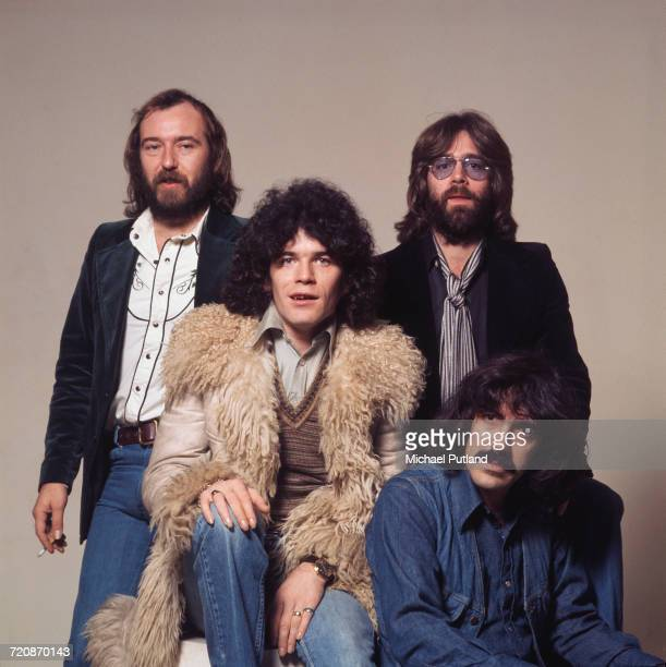 Scottish rock group Nazareth posed together on 20th November 1975 The band are from left to right bassist Pete Agnew singer Dan McCafferty drummer...