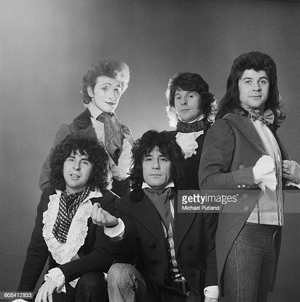 Scottish rock group The Sensational Alex Harvey Band London 4th December 1975 Left to right keyboard player Hugh McKenna guitarist Zal Cleminson...
