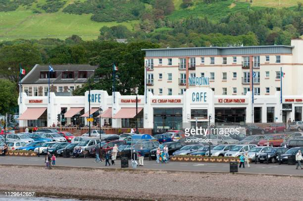 scottish seafront view from a ferry - johnfscott stock pictures, royalty-free photos & images