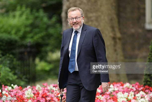 Scottish Secretary David Mundell arrives at Downing Street as Prime Minister Theresa May appoints her cabinet on July 14 2016 in London England The...