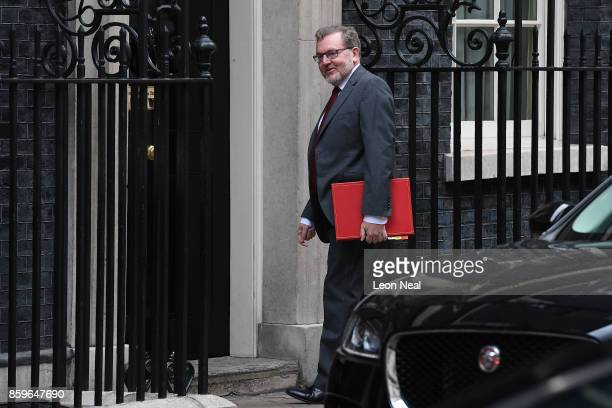 Scottish Secretary David Mundell arrives in Downing Street ahead of a Cabinet meeting on October 10 2017 in London England The meeting will be the...