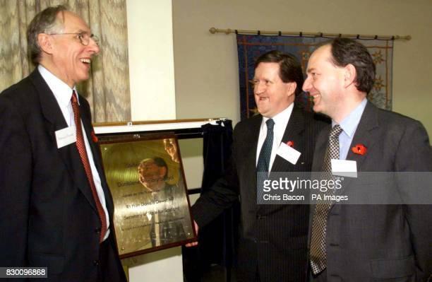 Scottish Secretary Donald Dewar with Defence Secretary George Robertson and former Scottish Secretary Sir Michael Forsyth touring Dunblane Primary...