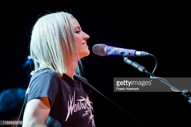 Scottish singer Amy Macdonald performs live on stage during a concert at the Admiralspalast on April 2, 2019 in Berlin, Germany.