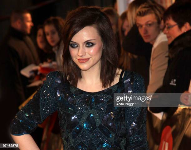 Scottish singer Amy McDonald arrives to the 'The Dome' music event on March 5 2010 in Berlin Germany