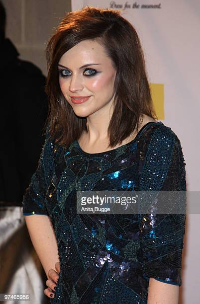 Scottish singer Amy McDonald arrives to the The Dome music event on March 5 2010 in Berlin Germany