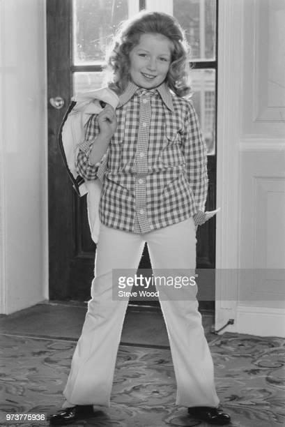 Scottish singer and a television show host Lena Zavaroni , UK, 14th January 1974.
