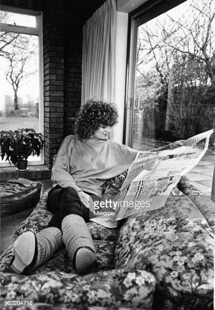 Scottish singer and actress Barbara Dickson photographed at home shortly before the opening of the original production of Blood Brothers at...