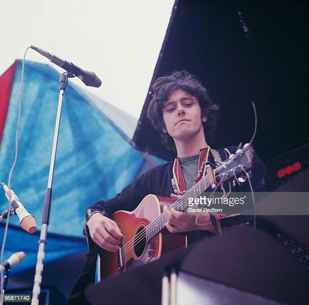 Singer Donovan performs on stage at the Windsor Festival on August 13 1967