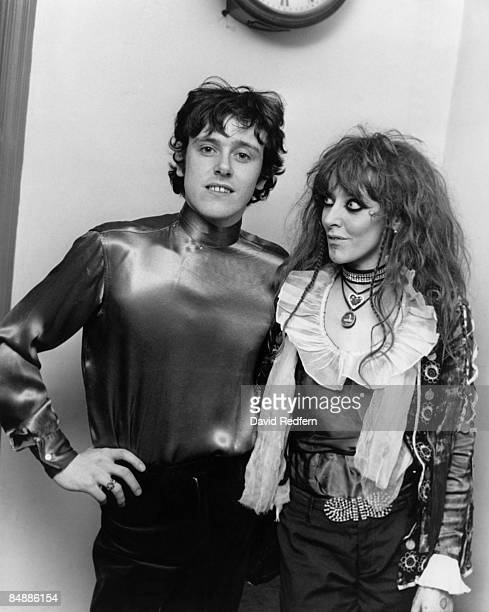 Scottish singer and musician Donovan posed with a young woman possibly Enid Karl circa 1966